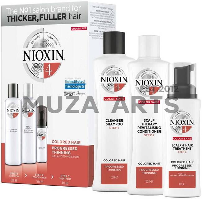 3-СТУПЕНЧАТАЯ СИСТЕМА NIOXIN №4 (300 мл) Для окрашенных истонченных волос